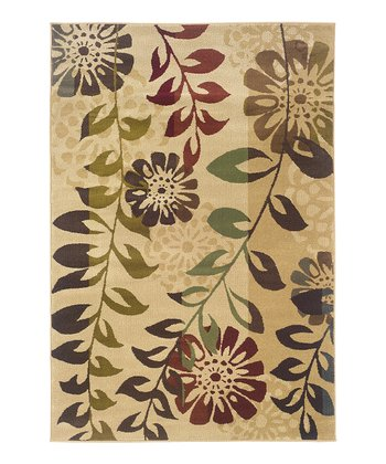 Ivory Flower & Fern Harrison Rug