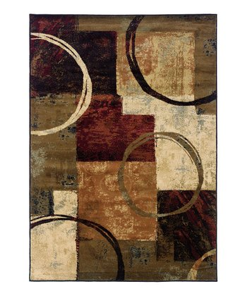 Brown Circle Chesapeake Rug