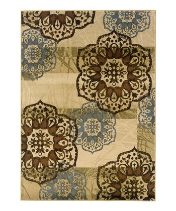 Beige Flower Chesapeake Rug
