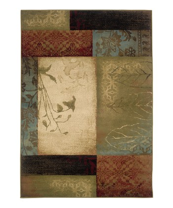 Beige Leaves Chesapeake Rug