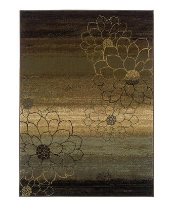 Brown Flower Chesapeake Rug