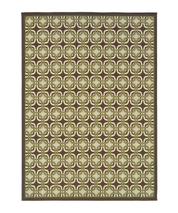 Brown Geometric Jamaica Indoor/Outdoor Rug
