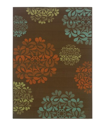 Brown Blossom Jamaica Indoor/Outdoor Rug