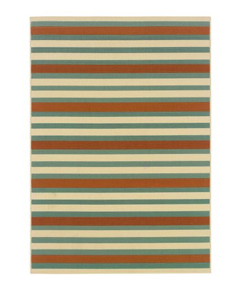 Blue Stripe Jamaica Indoor/Outdoor Rug