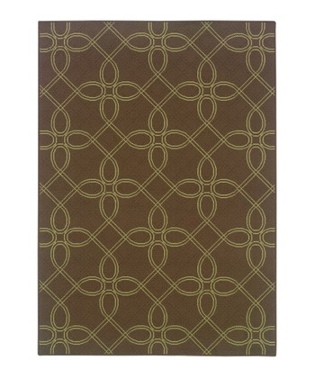 Brown Lattice Jamaica Indoor/Outdoor Rug