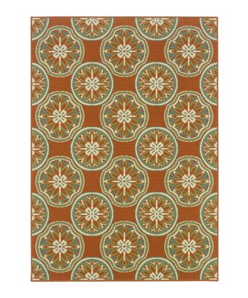 Rust Medallion Jamaica Indoor/Outdoor Rug