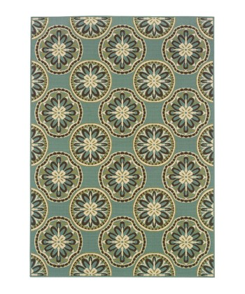 Blue Medallion Jamaica Indoor/Outdoor Rug