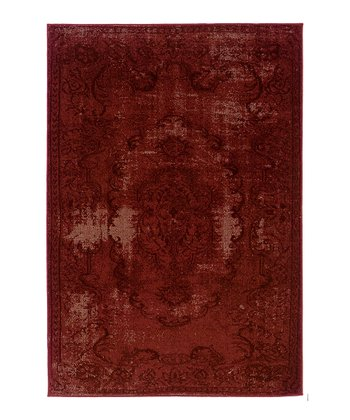 Red Ornate Renaissance Rug