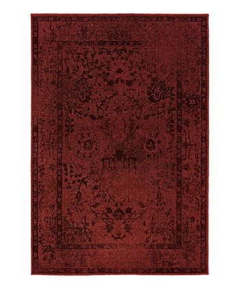 Red Border Renaissance Rug