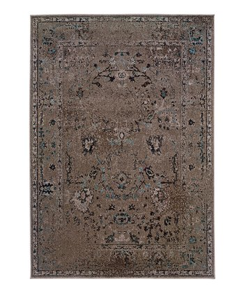 Gray Ornate Renaissance Rug