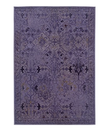 Purple Ornate Renaissance Rug