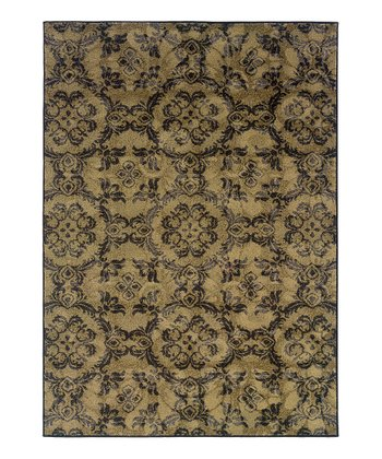 Gray Leaves Blanche Rug