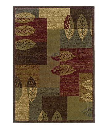 Brown Pressed Leaves Tyree Rug