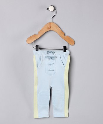 Baby Blue & Vintage Green Organic Pants - Infant