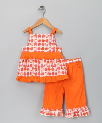 Apple Organic Top & Flare Pants - Toddler & Girls