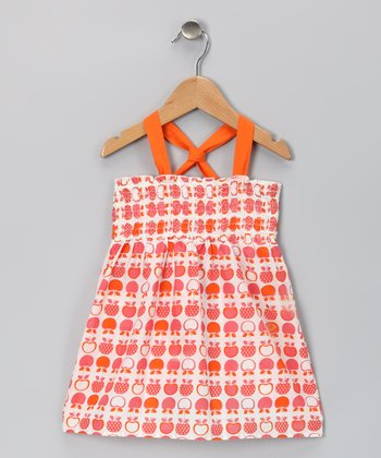 Orange Apple Julie Organic Dress - Toddler & Girls