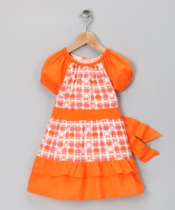 Orange Apple Organic Nisha Dress - Toddler & Girls