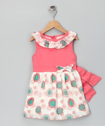 Pink & Aqua Organic Emma Dress - Toddler