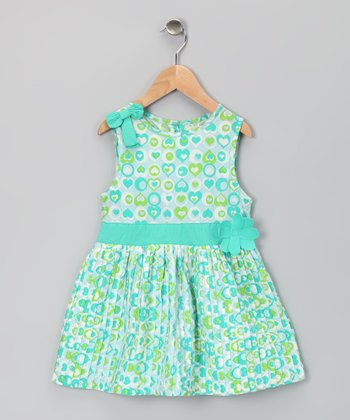 Aqua Heart Organic Sophia Dress - Toddler & Girls