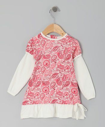 Red Paisley Organic Layered Dress - Infant, Toddler & Girls