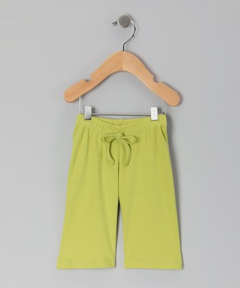 Green Organic Yoga Pants - Infant & Toddler