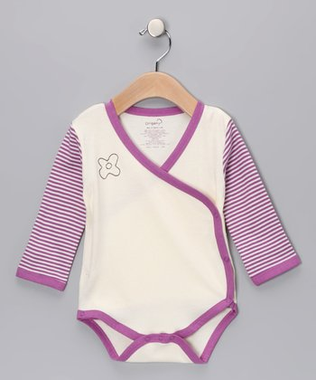 Berry Raglan Organic Wrap Bodysuit - Infant
