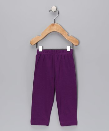 Purple Organic Yoga Pants - Infant