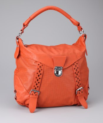 Orange & Silver Perforated Tote