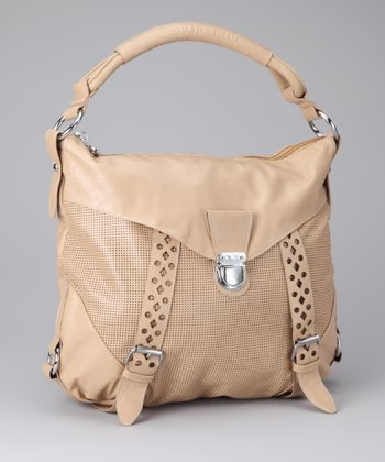 Taupe & Silver Perforated Tote