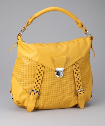 Yellow & Silver Perforated Tote
