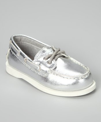Silver Alex Boat Shoe