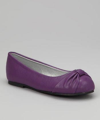 Purple Twist Ballet Flat