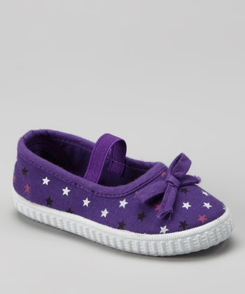Purple Polka Dot Flat