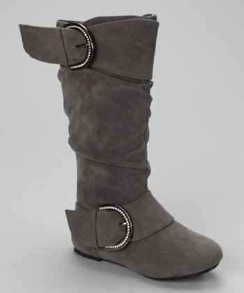 Gray Faux Suede Destiny Boot