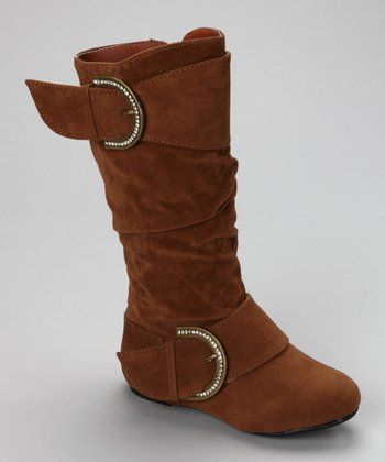Tan Faux Suede Destiny Boot
