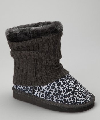 Gray Leopard Francis Boot