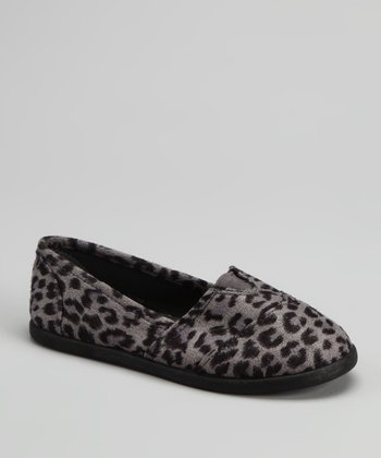 Gray Leopard Tammy Slip-On Shoe
