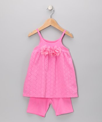 Carnation Eyelet Tank & Shorts - Infant