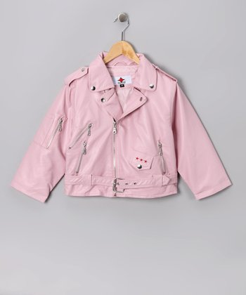 Pink Biker Jacket - Toddler & Girls