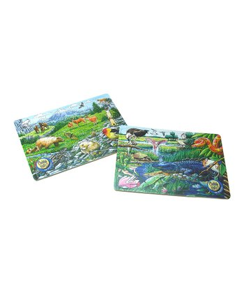 Rocky Mountain Wildlife & Animals of the Everglades Tray Puzzle