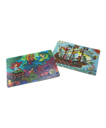 Pirate Ship & Mermaid Princess Tray Puzzle