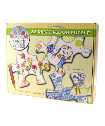 Create Your Own Floor Puzzle & Jumbo Crayons