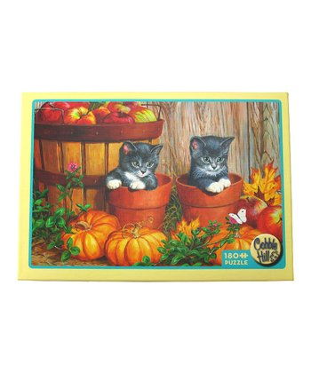 Pumpkin Kitten 180-Piece Puzzle
