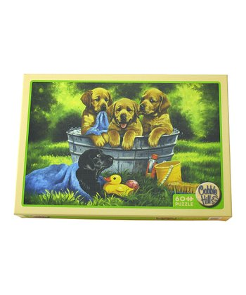 Puppy Bath 60-Piece Puzzle