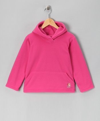 Pink Fleece Hoodie - Girls