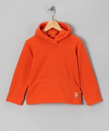 Tangerine Fleece Hoodie - Toddler & Kids