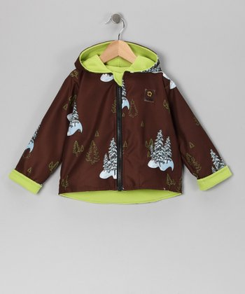 Brown Tree Reversible Jacket - Infant, Toddler & Kids