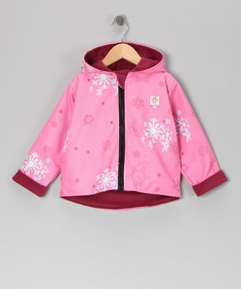 Pink Snowflake Reversible Jacket - Infant & Girls
