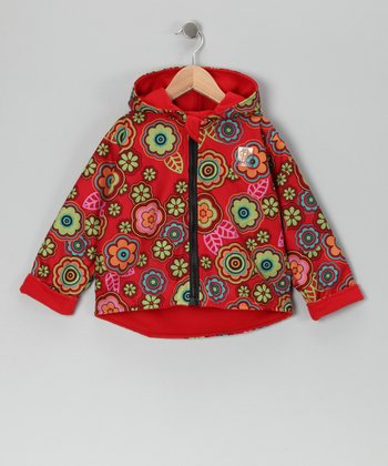Red Flower Reversible Jacket - Infant & Toddler