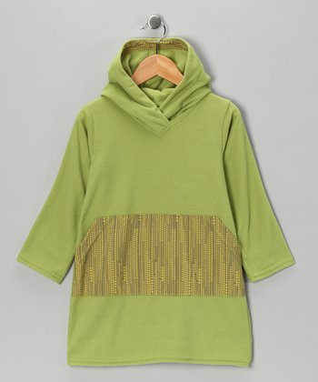 Green Dot Fleece Tunic - Infant & Girls
